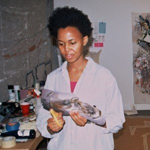 Wangechi Mutu at work crop