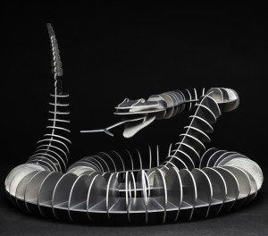 EV Day Snake, 2011 Aluminum, edition of 8 60 x 48 inches
